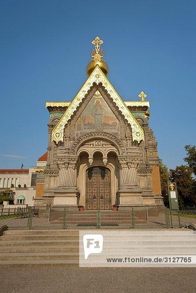 Russische Kapelle  Darmstadt  Deutschland  Flachwinkelansicht