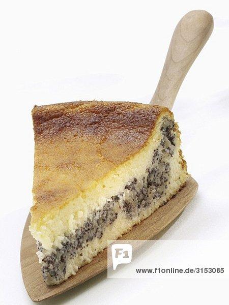 Ein Stück Mohn-Quark-Kuchen