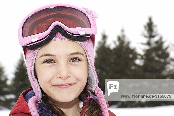 Close-up of girl wearing ski goggles  King City  Ontario