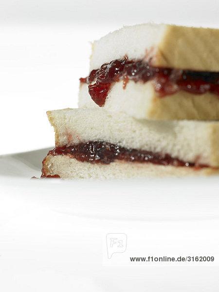 Food - Weißbrot Stau Sandwich