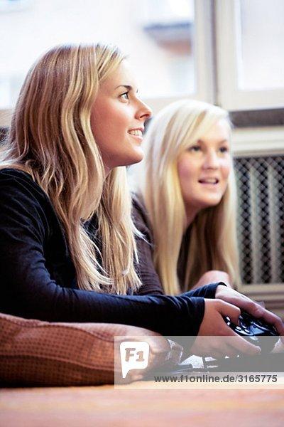 Two young Scandinavian women  Sweden.