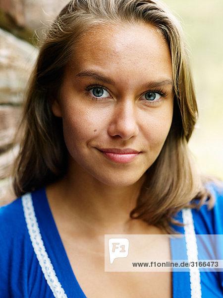 Portrait einer jungen Frau  Schweden.
