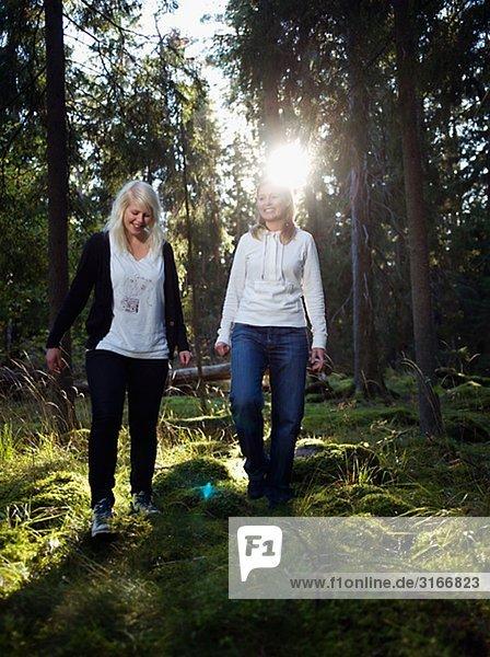 Zwei Frauen in der Gesamtstruktur Schweden.
