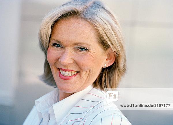 Porträt von einem nahen im Alter von skandinavischen Frau  Schweden.