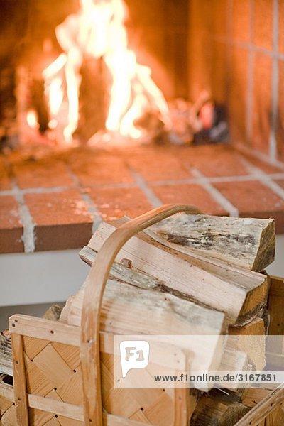 Brennholz Kamin  Schweden.