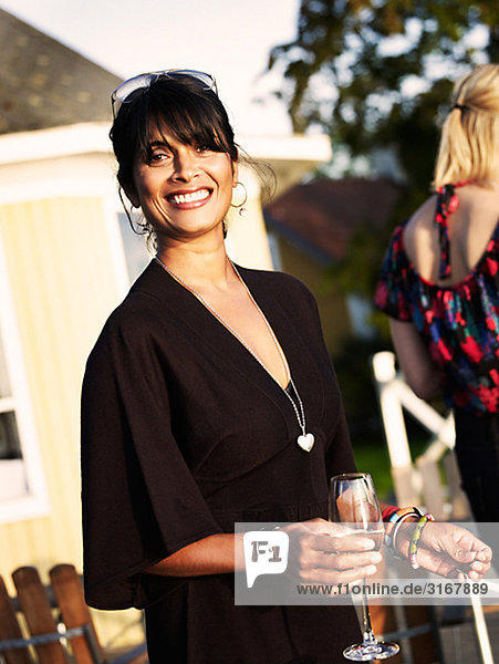 A woman at a party  Sweden.