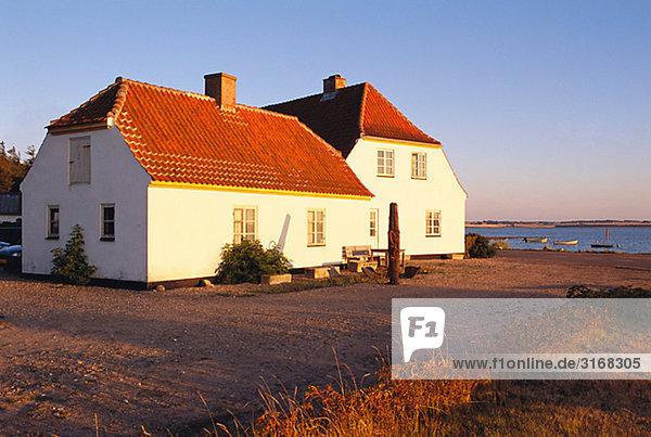 Houses by the sea  Denmark.