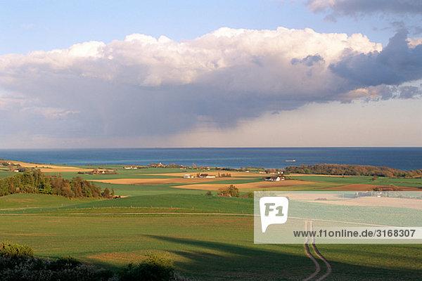 Ansicht der Landschaft Dänemark.