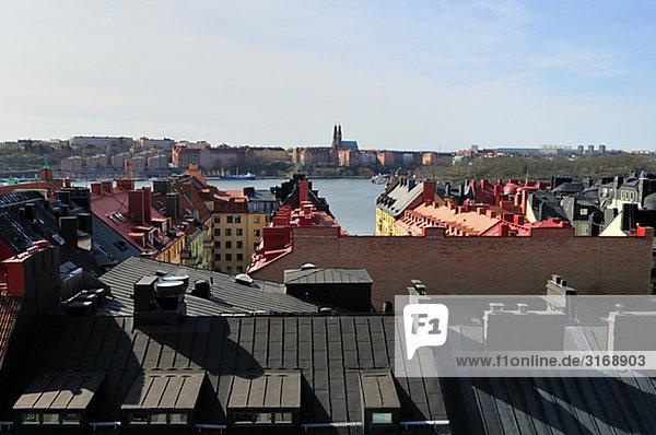 Roof ridges  Kungsholmen  Stockholm  Sweden.