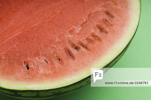 Nahaufnahme-die Hälfte der Wassermelone