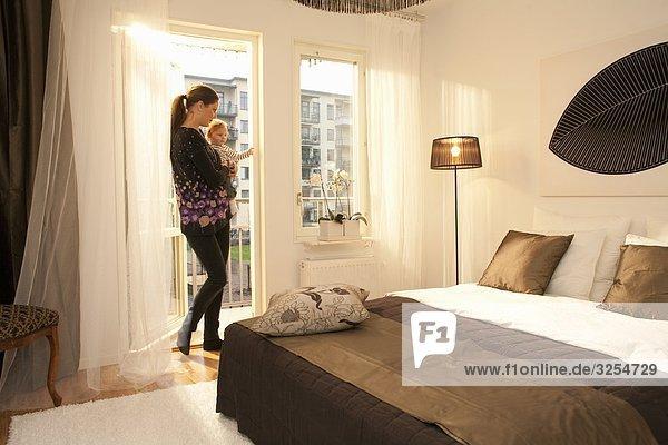 The interior of a Scandinavian apartment  Sweden.