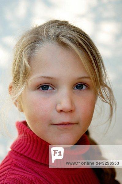 Portrait of a girl. Sweden.