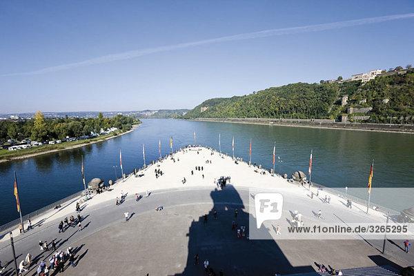 Germany  Rhineland-Palatinate  Koblenz  Deutsches Eck
