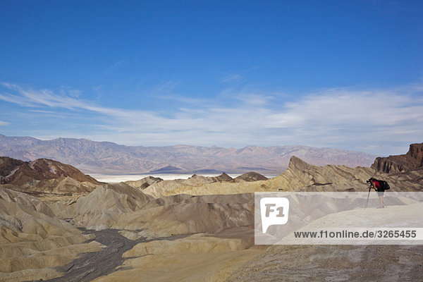 USA  Kalifornien  Death Valley  Zabriskie Point  Fotograf fotografiert