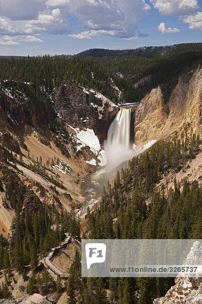 USA  Yellowstone Park  Untere Yellowstone Fälle
