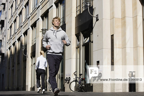 Germany  Berlin  Jogger in the city