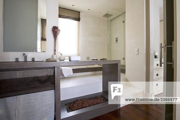 Interieur des Badezimmers  Madrid  Spanien