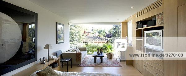Innere der er Hauptschlafzimmer des Freistehendes Einfamilienhaus in Madrid  Spanien