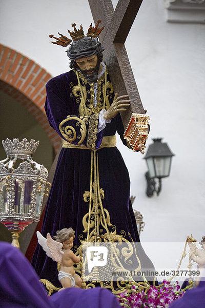 Statue Heiligkeit Jesus Christus Christ Prozession Woche