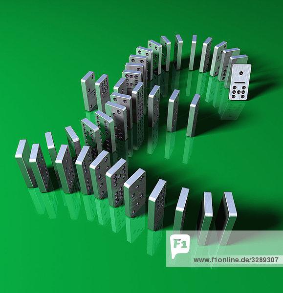 Dominosteine bilden Pfundsymbol