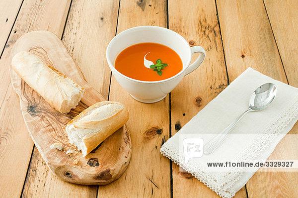 Suppe und Brot