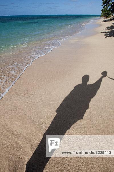 Shadow on the beach.