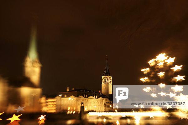St. Peters Kirche an Weihnachten in Zürich
