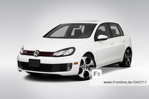 2010 Volkswagen GTI in weiß - Winkel Vorderansicht