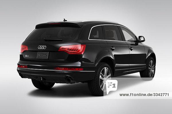 schwarz Rückansicht Ansicht Flachwinkelansicht Audi Winkel