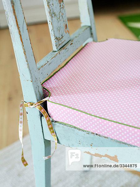 Einer alten Stuhl  Nahaufnahme  Schweden.