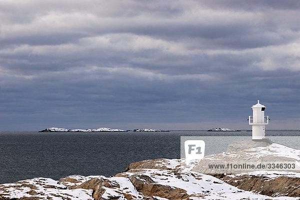 Ein Leuchtturm  Marstrand  Bohuslan  Schweden.