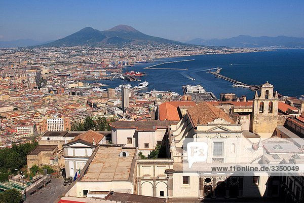Italy  Campania  Naples  cityscape and the Certosa San Martino
