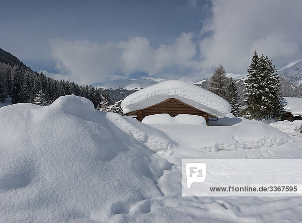 Hütte Berg Winter Wohnhaus Landschaft Gebäude Schnee Tal Alpen Kabine Kanton Graubünden Schweiz Kanton Graubünden