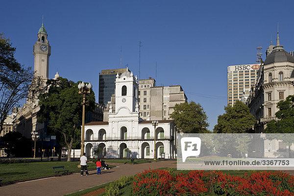 10864153  Argentina  Sudamerika  Amerika  March 2008  Buenos Aires  city  Mayo square  Plaze de Mayo  The Cabildo  museum
