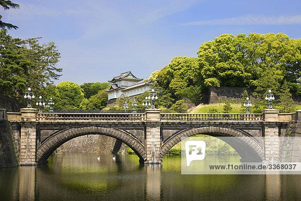Japan  Tokyo City  den kaiserlichen Palast  Nijubashi