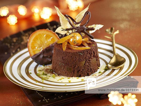 Orange und Schokolade Marquise