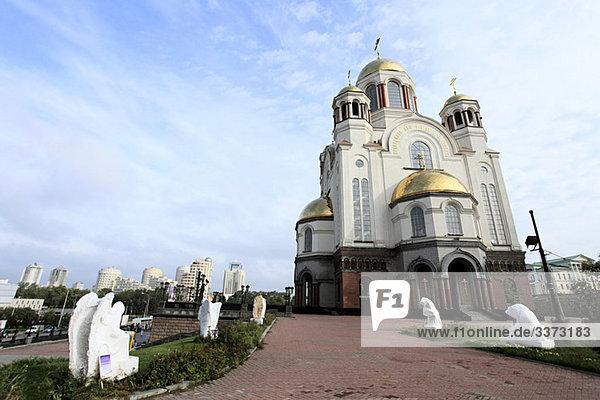 Kirche auf dem Blut yekaterinburg