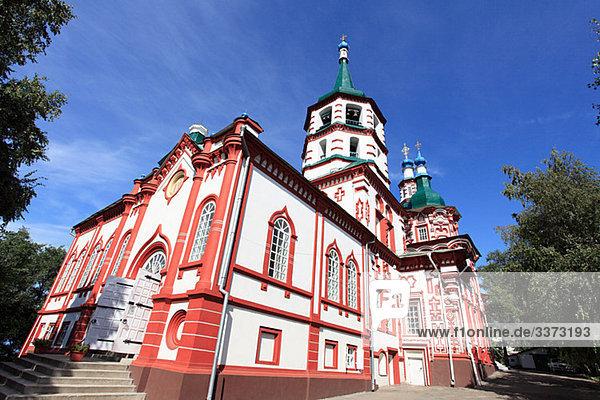 Errichtung der Kreuzkirche in Irkutsk