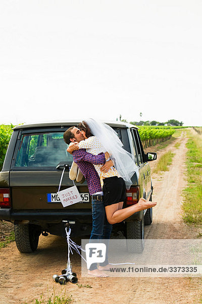 Hochzeit, Verkehr, küssen