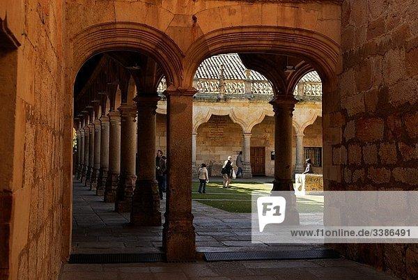 Patio de Escuelas Menores. Uiversity of Salamanca. Castilla y Leon. Spain