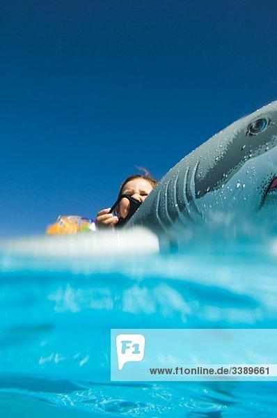 Girl bathing in turquoise water  Egypt. Girl bathing in turquoise water, Egypt.