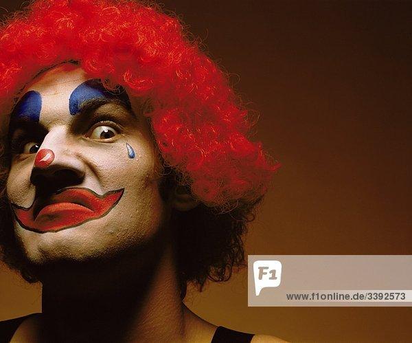 unheimlich aussehender Clown
