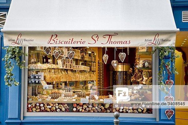 Schaufenster einer Biscuiterie  Straßburg  Frankreich Schaufenster einer Biscuiterie, Straßburg, Frankreich