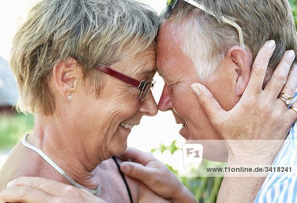 Nahaufnahme eines glücklichen Paares Nahaufnahme eines glücklichen Paares
