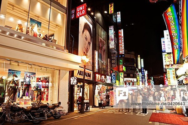 Myeongdong shopping and night life district