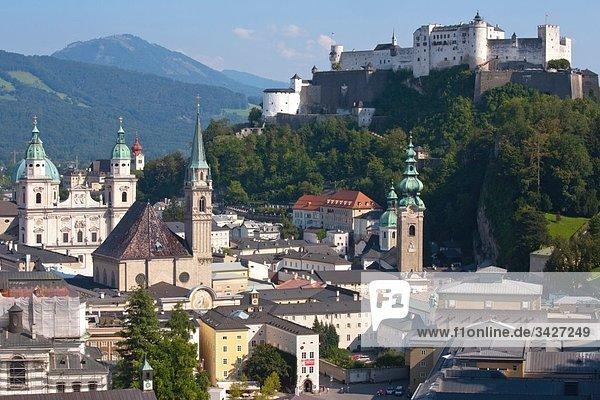 Austria  Salzburg  Hohensalzburg Fortress and city