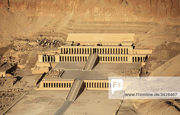 Luftaufnahme des Hatschepsut-Tempels