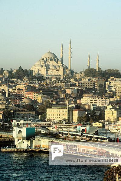 Blick auf istanbul und suleymaniye Moschee
