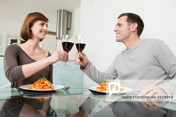 Wein Gericht Mahlzeit