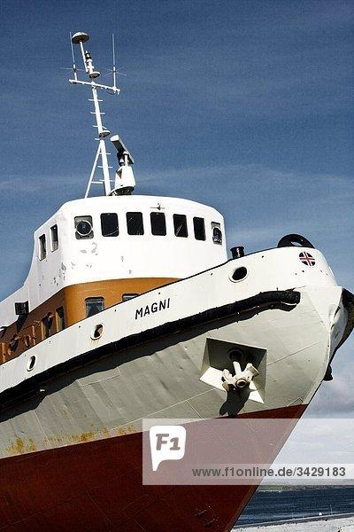 Untersicht eines Schiffes
